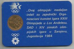 Yugoslavia 1984. Olympic Token Sarajevo Los Angeles In Blister - Yugoslavia