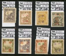 CHINA / JAPAN / MANCHUKUO - Small Selection Of 8 Local Overprints. - China