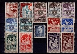 Tunisie Année 1955 Timbres N° 388 à 401** Timbres Neufs** 14 Valeurs - Unused Stamps