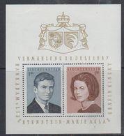 Liechtenstein 1967 Wedding M/s ** Mnh (47765) - Blocks & Kleinbögen