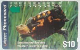 $10 Endangered Species Western Swamp Turtle - Australia