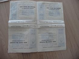 Planche 4 Bons Pour Paquet En Franchise Postale BE Sans Charnière Petit Décrochage Au Centre - Franchise Stamps