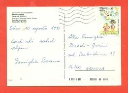 STORIA POSTALE - ISOLATI SU CARTOLINA POSTALE  - FOLKLORE-BANDE MUSICALI - ALPE DI SIUSI - 1991-00: Marcophilia