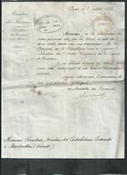 Lettre De Sadi Carnot à Mr Rouchon De Montpellier(Hérault) Attribution De La Médaille De Chevalier De L'ordre Du Mérite - Documents Historiques