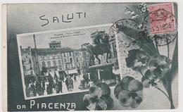Piacenza, Saluti Da - Violette - F.p - Anni '1910 - Piacenza