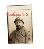 Photo Militaire Homme Uniforme Moustache 6x4 Cm - Guerra, Militari