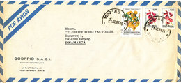 Argentina Air Mail Cover Sent To Denmark 11-7-1986 Topic Stamps Flowers - Poste Aérienne