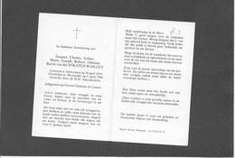 JACQUES VAN DER STRAETEN- WAILLET-ANTWERPEN-WESTMALLE-Baron-ADEL-Politiek-DOODSPRENTJE - Images Religieuses
