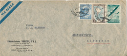 Argentina Air Mail Cover Sent To Germany 14-6-1951 - Luftpost