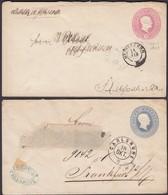 Germany - Baden 1860's Ganzsache Umschlag Stationery Envelope. Karlsruhe, Heidelberg. - Bade