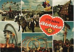 München Oktoberfest Fahrgeschäfte Achterbahn (Roller Coaster) Uvm. 1985 - Muenchen