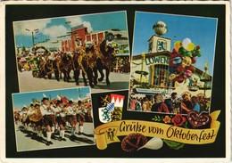Ansichtskarte München Oktoberfest, Einzug Der Wirte Mehrbild-AK 1965 - Muenchen