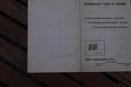 Hamme Jaren '50 Kleurkaart Lintweverij Van Damme Ferdinand - Historical Documents