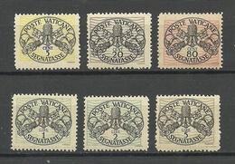 VATICAN Vatikan 1945/46 Michel 7 - 12 MNH Portomarken Postage Due - Postage Due