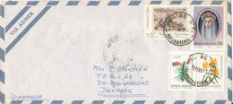 Argentina Air Mail Cover Sent To Denmark 12-2-1987 Topic Stamps - Luftpost