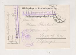 AUSTRIA  HALL IN TYROL 1916 Military Hospital Stationery - Cartas