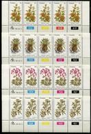 Transkei Mi# 88-91 Zylinderstreifen Postfrisch/MNH Controls - Flora Medical Plants - Transkei