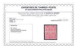 France N° 98 Bloc De 4 Neufs **  Signé/certificat Calves - Cote 2025 Euros - TB Qualité - 1876-1898 Sage (Tipo II)