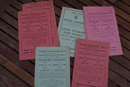 Mesen Messines Trekpaard Cheval De Trait 1946 1949 7 Catalogen Van Prijskamp Stamboom !!! - Historische Dokumente