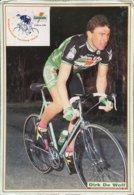 Postcard Dirk De Wolf -  Gatorade  -  1992 - Ciclismo