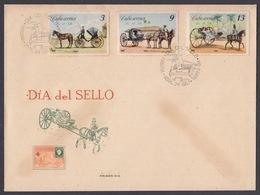 FDC DIA DEL SELLO.. CARRUAJES 1967, EDIFIL 1456/58 - FDC