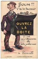 CARTE A SYSTEME CIRCULE EN 1929 BOUM V'LA LE FACTEUR OUVREZ LA BOITE ET VOUS TROUVEREZ LES PLUS JOLIES VUES DE TROUVILLE - Trouville