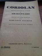 Coriolan SHAKESPEARE Calmann Levy 1934 - Autres