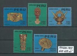PERU MICHEL SATZ 669 - 673 Postfrisch Siehe Scan - Peru