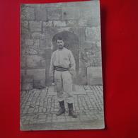 CARTE PHOTO SOLDAT BESANCON FORT GRIFFON - Guerre 1914-18