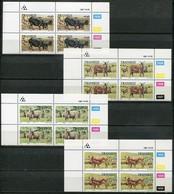 Transkei Mi# 210-3 Zylinderblöcke Postfrisch/MNH Controls - Fauna Farm Animals - Transkei
