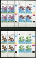 Transkei Mi# 214-7 Zylinderblöcke Postfrisch/MNH Controls - Flora Seaweed - Transkei