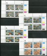Transkei Mi# 218-21 Zylinderblöcke Postfrisch/MNH Controls - Weaving Industry - Transkei