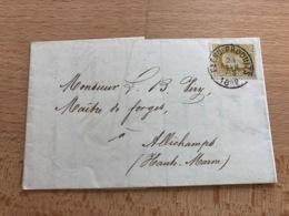 N° 32 Pli De Fléau-Produit Vers Allichamps (France) 23 Fev 7S 1882 Société Anonyme Du Charbonnage Des Produits à Flenu - 1869-1883 Léopold II
