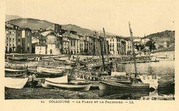 COLLIOURE LA PLAGE ET LE FAUBOURG BARQUE BATEAU DE PECHE - Collioure