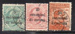T1394 - TRENTO TRIESTE 1919 , Tre Valori Usati (M2200) - 8. WW I Occupation
