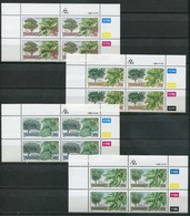 Transkei Mi# 242-5 Zylinderblöcke Postfrisch/MNH Controls - Flora Trees - Transkei