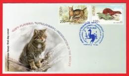 Armenien / Armenie / Armenia / Karabakh 2020, Preservation Of The Wildlife, Cat Weasel - FDC - Armenien