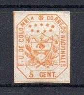 COLOMBIE . ETATS UNIS : N°  19 (*) . .TB . 1863 . ( CATALOGUE YVERT ) . - Kolumbien