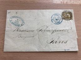 N° 32 Pli D'Anvers (Station) Vers Paris 1 Mai 4-5S 1876 P. Bruynseraede Anvers - 1869-1883 Léopold II