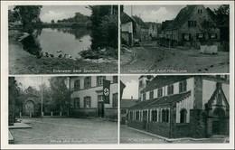 Forchheim (Kaiserstuhl) 4 Bild: Sportplatz, Straße, Schule, Kriegerdenkmal 1934 - Allemagne