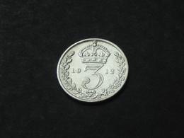 3 Pence 1912  Georgius V  - Great Britain - Grande Bretagne  ***** EN ACHAT IMMEDIAT ***** - 1902-1971 : Monnaies Post-Victoriennes