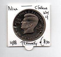 NIUE 5 DOLLARS 1988 J.F. KENNEDY - ICH BIN EIN BERLINER - Niue