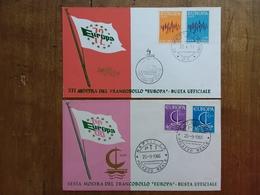 REPUBBLICA - 2 Buste Mostra Francobollo Europa + Spese Postali - F.D.C.