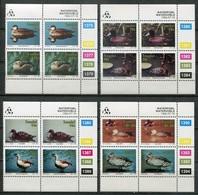 Transkei Mi# 287-94 Zylinderblöcke Postfrisch/MNH Controls - Fauna Birds - Transkei