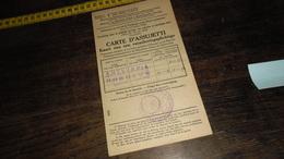 HOBOKEN _ KAART VAN VERPLICHT VERZEKERDE......._____( LXV_ ENV : 1 _ LOT 11 ) - 1900 – 1949