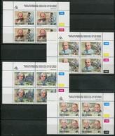 Transkei Mi# 307-10 Zylinderblöcke Postfrisch/MNH Controls - Medical Heroes, Doctors - Transkei