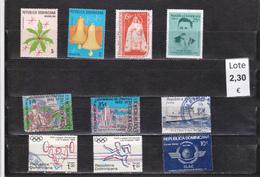 República Dominicana -  Lote  10  Sellos Diferentes  - 5/2212 - República Dominicana