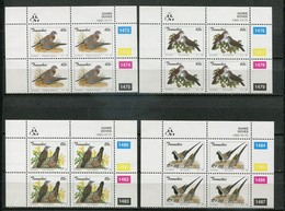 Transkei Mi# 311-4 Zylinderblöcke Postfrisch/MNH Controls - Fauna Birds - Transkei