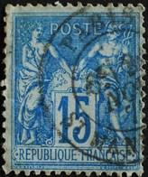 -Sage N°90 Type Ll.(CAD) O PARIS ST MANDE. - 1876-1898 Sage (Type II)