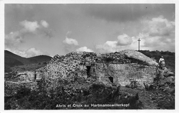 Carte Photo HARTMANNSWILLERKOPF-HARTMANNSWEILER-VIEIL ARMAND-Abris Militaire Croix-68-Haut-Rhin-Guerre 14/18-Krieg - Otros Municipios